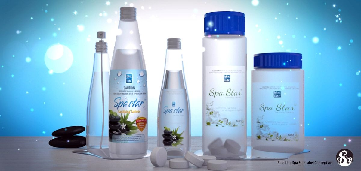 Spa Star concept products, from Blueline