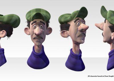Dean Yeagle's cartoon head