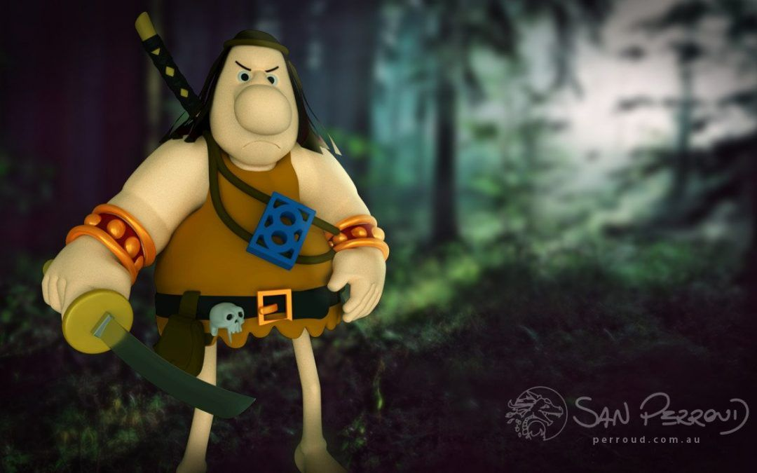 Groo the Wanderer in 3D