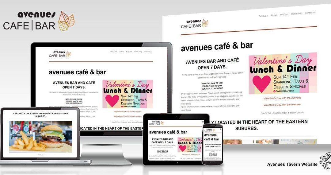 Avenues Tavern website