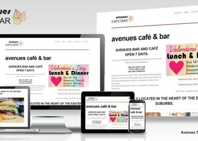 Avenues Tavern website