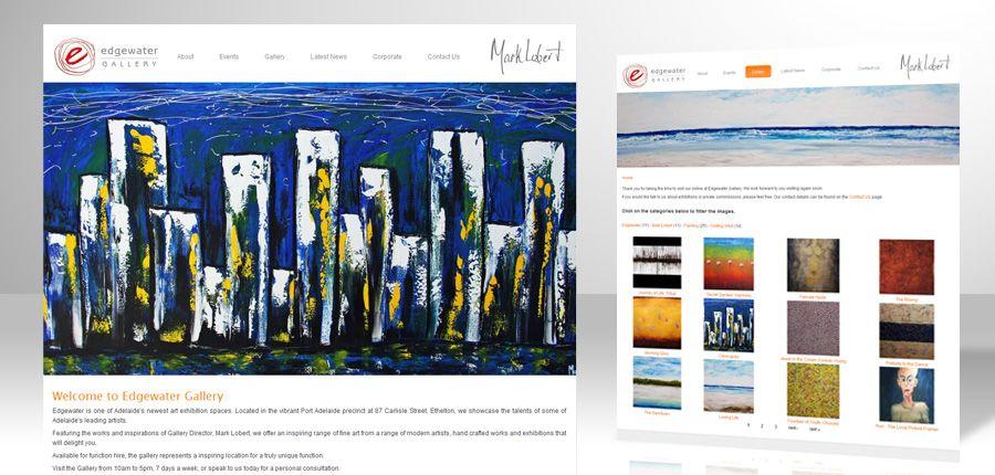 Edgewater Gallery CMS website
