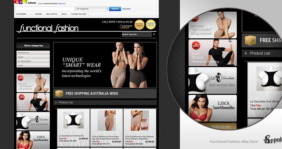 Functional Fashion Ebay Template
