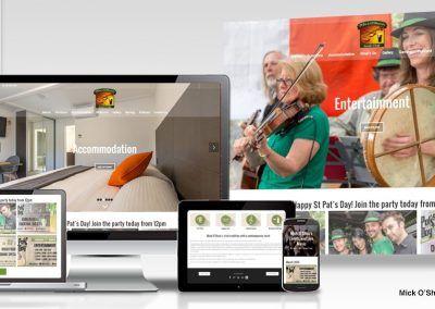 Mick O'Shea's Irish Pub website